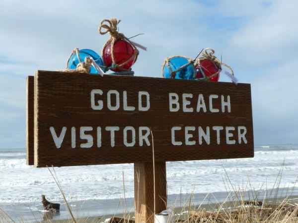 Gold Beach Treasure Hunt on the beach